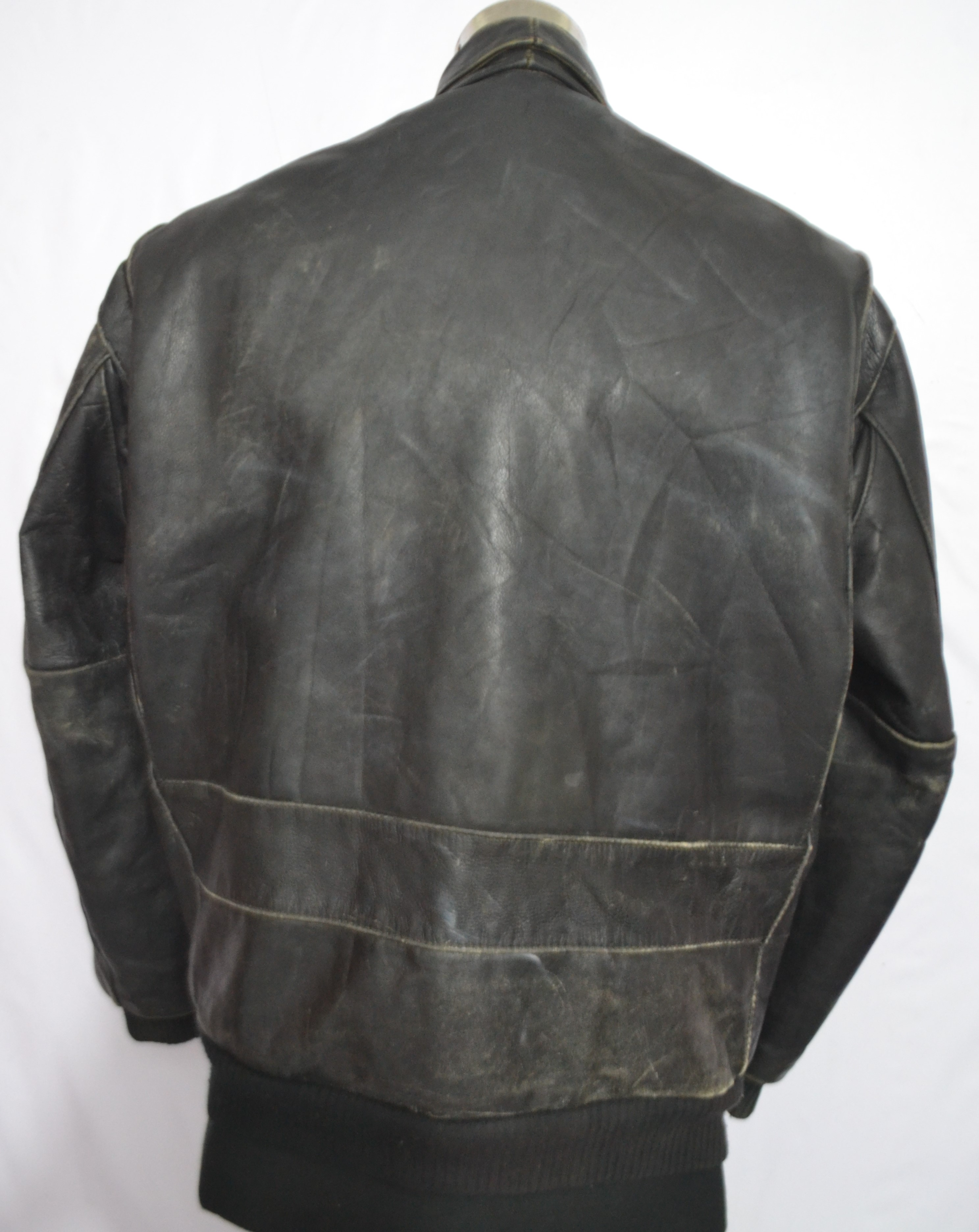 Leather jacket italy - Confezioni S G Vera Pelle Men S Type A2 Thick Leather Jacket Made In Italy D30 2 3 Kg