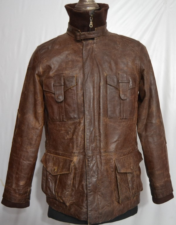 Transmission Men's Flight Leather Jacket (L-36, 2 Kg) - UK ...