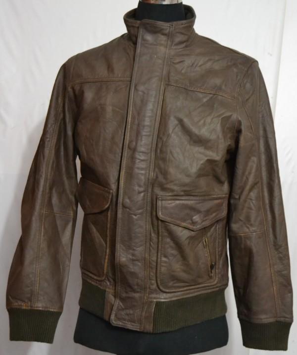 DENVER HAYES VINTAGE Men's Type A-2 Flight Leather Jacket ...