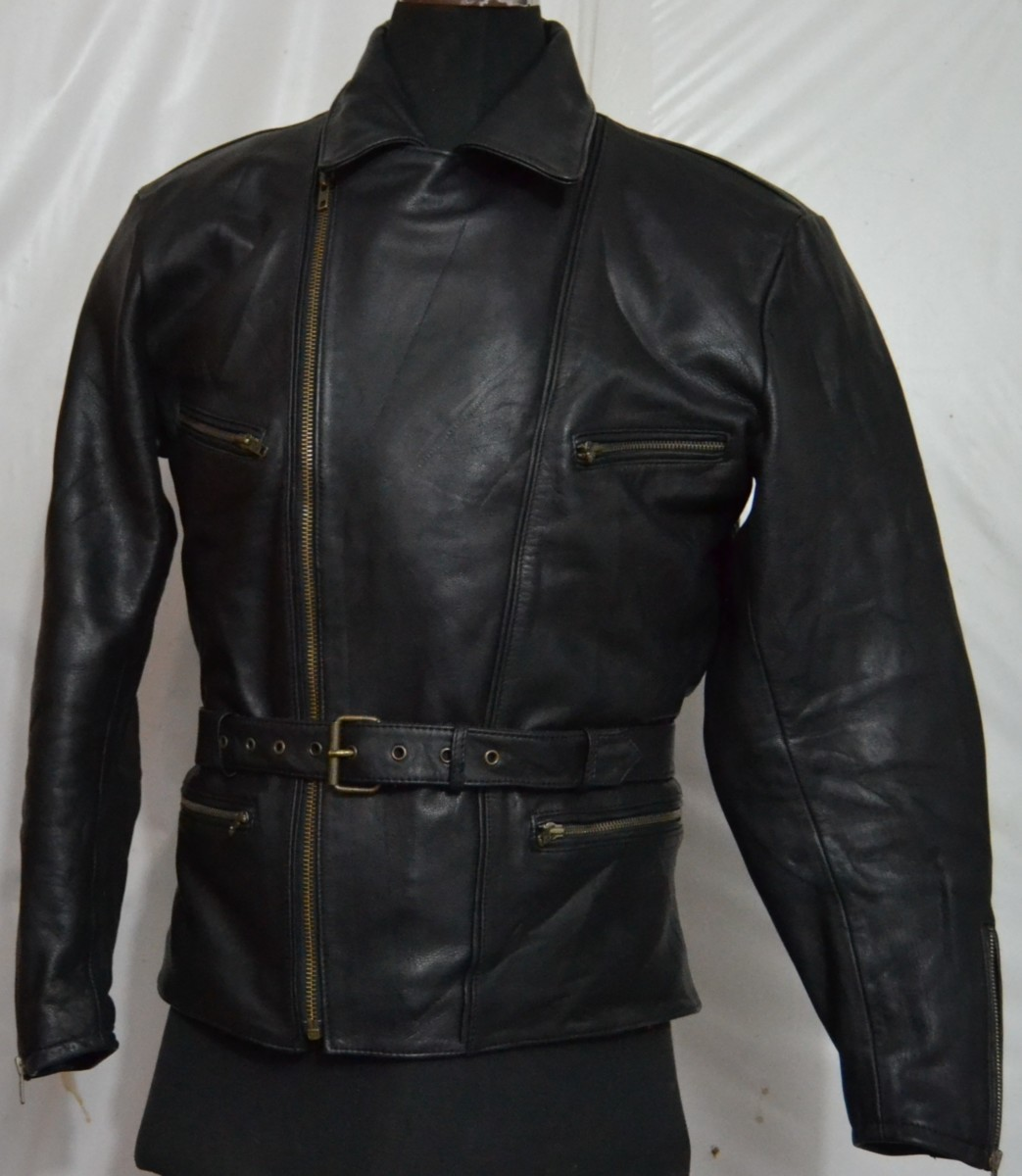 sanmaru s cruiser motorcycle thick leather jacket h q