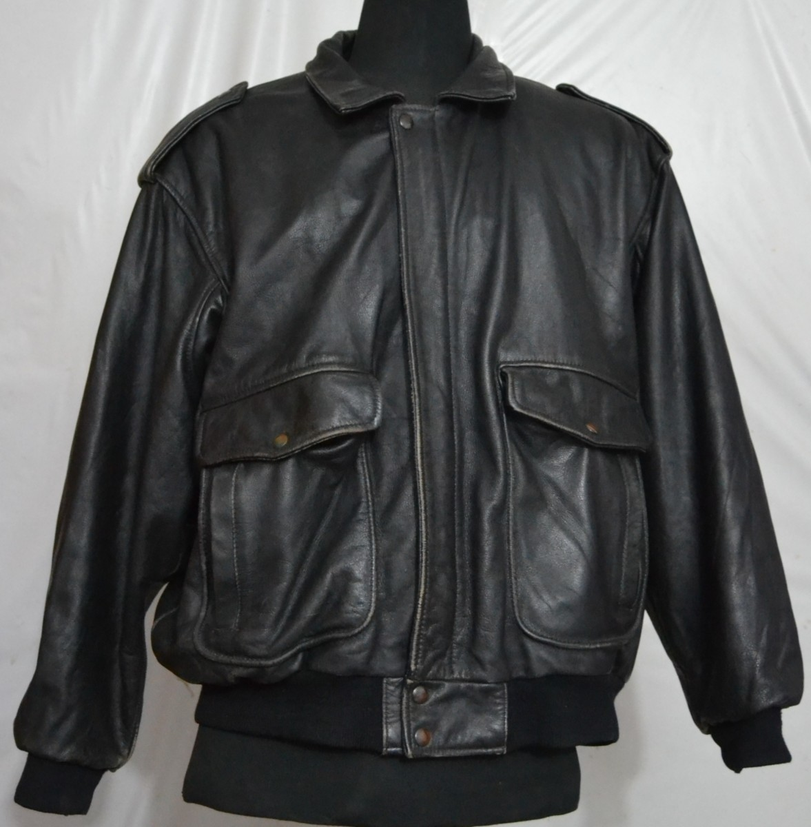 d7faf84cd Men's Type A2 Flight Cowhide Leather Jacket - Made in Italy (L-46, 2.5 kg)